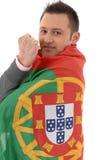 Soccer fan royalty free stock photo