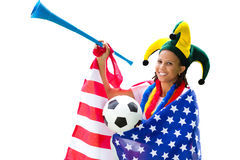 Soccer fan Stock Images