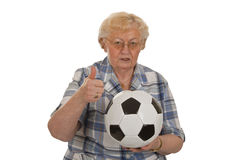 Soccer fan Royalty Free Stock Photography