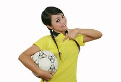 Soccer fan Stock Photo
