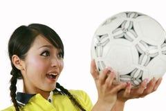 Soccer fan stock image
