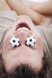 Soccer fan balls Stock Photography