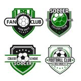Vector icons for soccer team football fan club Stock Photo