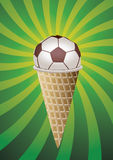Soccer fan icecream Stock Photo