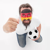 Soccer fan from the national Team of Germany Stock Photo