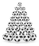 Soccer Fan's Christmas Tree. Soccer/football themed christmas tree. 3D rendered illustration Royalty Free Stock Images
