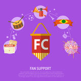 Soccer fan support Concept Stock Photos