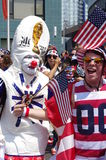Soccer fan supporters before 2015 FIFA Women's World Cup final Stock Photography