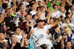 Soccer fans Stock Images