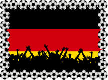 Soccer fans Germany Stock Image