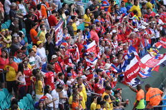 Soccer fans at Itaipava Arena Fonte Nova Royalty Free Stock Photo