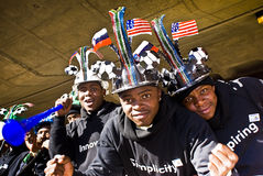 Soccer Fans in Makaraba with Vuvuzela Stock Image