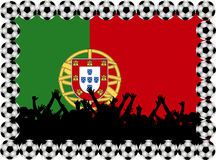 Soccer fans Portugal Stock Photo