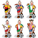 Soccer Fans at sport-bar Royalty Free Stock Photos
