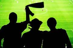 Soccer fans stadium Stock Image