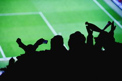 Soccer fans stadium Royalty Free Stock Photography