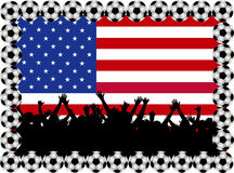 Soccer fans USA Royalty Free Stock Photography