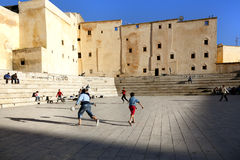 Soccer in Fez Royalty Free Stock Images