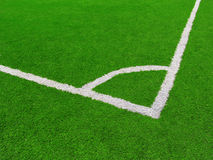Soccer field. A close up shot of a corner kick spot in a soccer field Royalty Free Stock Photography