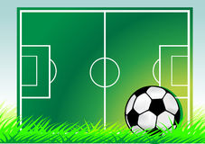 Soccer field. Background  illustration Royalty Free Stock Photos