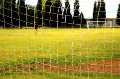 Soccer field. View on soccer field stock image