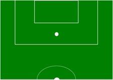 Soccer field. Half soccer field the popular game stock illustration