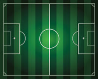 Soccer field. Illustration of soccer field with green stripes Royalty Free Stock Photography