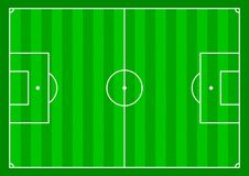 Soccer field. Illustration of a Soccer field from above Royalty Free Stock Photography