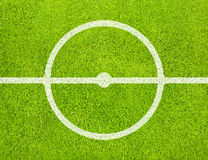 Soccer field. Center of soccer field with white lines on green grass background Royalty Free Illustration