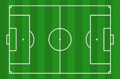 Soccer field. View from above Royalty Free Stock Photography