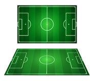 Soccer field. 3D vector football Royalty Free Stock Image