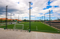 Soccer field. This picture is the green grass soccer field Stock Photography