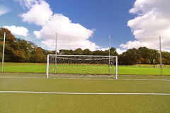 Soccer field. A empty soccer field near stadium Royalty Free Stock Photos