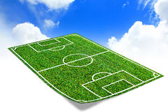 Soccer field. With artificial grass Royalty Free Stock Photography