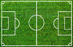 Soccer field. With artificial grass Royalty Free Stock Photo