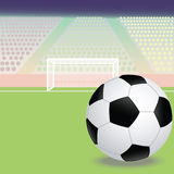 Soccer field. Illustration of a soccer field stadium Stock Images