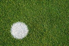 Soccer Field. Ball White Mark Stock Images