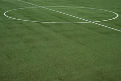 Soccer field. The lines on soccer field Royalty Free Stock Photos
