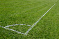 Soccer field. Corner of a soccer field Royalty Free Stock Photography
