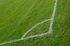 Soccer field. Corner of a soccer field Royalty Free Stock Photo