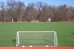 Soccer Field. Empty Soccer Field waiting for players Royalty Free Stock Photo