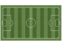 Soccer field. Top view on soccer field with gates, corner flags and soccer ball. High resolution 3D image Royalty Free Stock Photo
