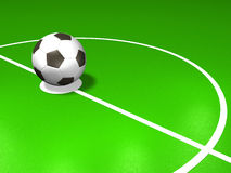 Soccer field. 3d model Royalty Free Stock Image