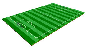 Soccer Field. 3d isolated soccer field on white background Stock Photo