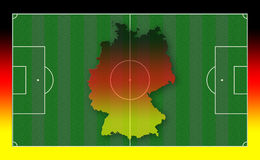 Soccer Field. Illustration with Germany map and flag colors royalty free illustration