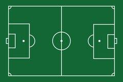 Soccer Field. Vector illustration of soccer field stock illustration