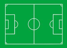 Soccer field. Vector Soccer field with lines on green Royalty Free Stock Image