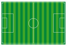 Soccer field. An illustrated soccer field. useful for tactical discussions vector illustration