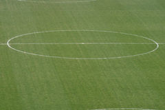 Soccer Field. Picture Of The Center Of A Soccer/Football Field Royalty Free Stock Images