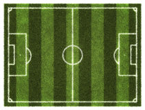 Soccer field. Aerial view Stock Images